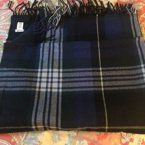 J Crew plaid wool blanket scarf